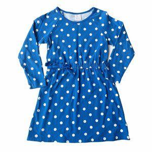 Hanna Andersson Blue Polka Dress